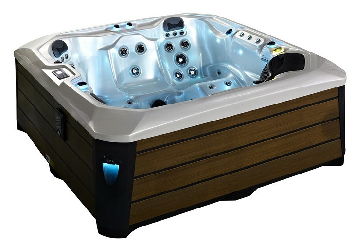 Barcelona Hot Tub White with Brown Skirt