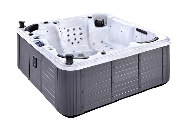 Palma Hot Tub White with Grey Skirt
