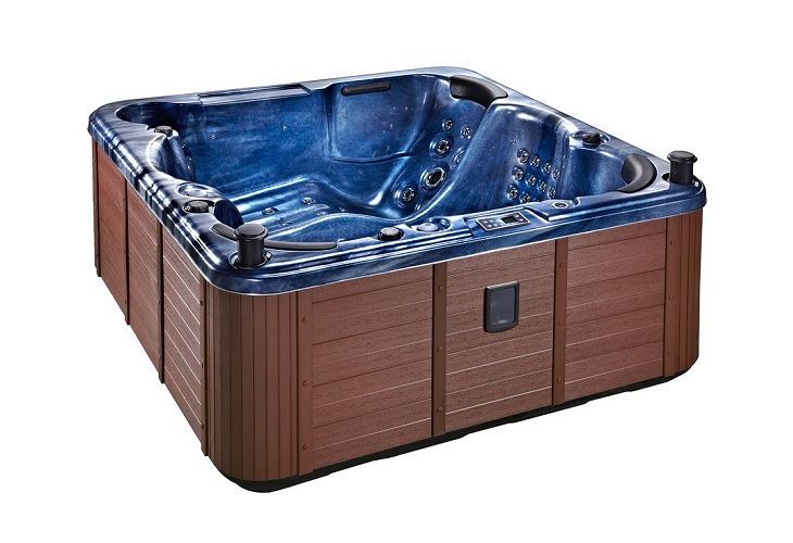 Palma Hot Tub Blue with Brown Skirt