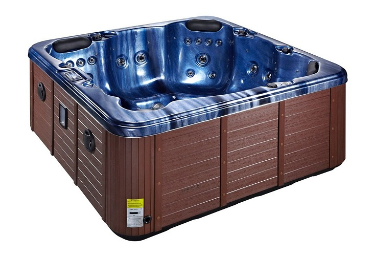 Refresh Hot Tub Blue with Brown Skirt