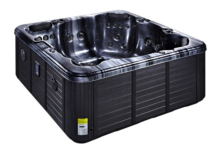 Refresh Hot Tub Black with Black Skirt